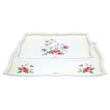 Greengate Tablett Meadow white 2er Set
