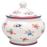 Greengate Zuckerdose sugar pot Hailey white