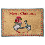 Greengate Fußmatte Abtreter Scooter Christmas Doormat