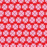 Graziela Jersey Swafing Kleeblätter Pink Rot Retro Glücksklee