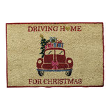 Greengate Fußmatte Abtreter Christmas Car Red Doormat