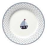 Kids Plate Kinderteller Noah blue