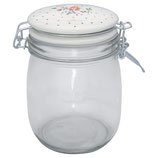 Greengate Vorratsglas 0,75 Liter Belle white