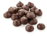 Schoko-Tropfen, hell  Schokoladenkuvertüre