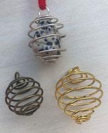 Spirale - Anhänger für Trommelsteine