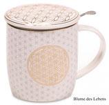 Teetassen mit Metallsieb und Deckel