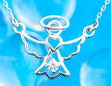 Silberengelchen als Collier