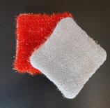 Lingette exfoliante rouge