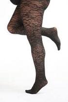 Pamela Mann panty met bloemmotief zwart