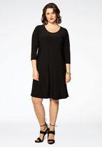 Yoek zwarte basis jurk Dolce 3/4 mouw