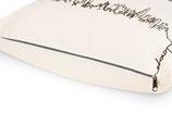 Handbedruckte Kissenhülle, Reißverschluss in grau