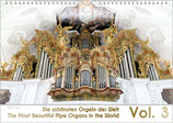 "Pipe Organ Calendar ""The Most Beautiful Organs in the World"" Vol. 3, A4"
