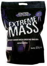 Produktname EXTREME MASS GAINER IN - 6,5kg. 3,0kg. 1,5kg. Geschmacksrichtung: Vanille, Erdbeer, Schoko,