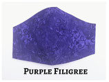 Purple Filigree Pocket Mask