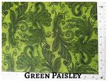 Green Paisley Pocket Mask