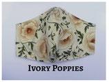 Ivory Poppies Pocket Mask