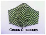 Green Checkers Pocket Mask