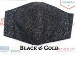 Black & Gold Pocket Mask