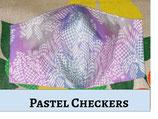 Pastel Checkers Pocket Mask