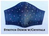 Stretch Denim with Crystal Rhinestones
