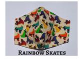 Rainbow Skates Pocket Mask