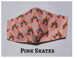Pink Skates Pocket Mask