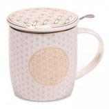 Tee-Tasse Blumen des Lebens