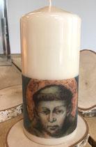 Premium Kerze mit Heiligen Franz von Assisi