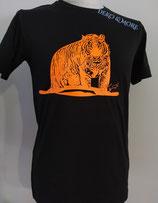 Herren T-Shirt mit krassen Tiger in Neon Look