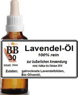 Lavendel Öl, 30ml Pipette mit Sicherheitsverschluss