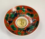 九谷燭台 絵付き 木米