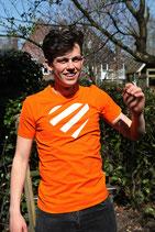 Oranje shirt - wit hart (HEREN)