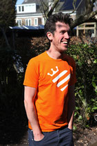 Oranje shirt - wit koningshart (HEREN)