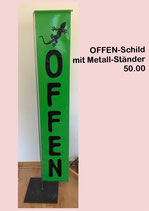 OFFEN-Schild