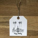"""Päckli-Anhänger """"happy Birthday"""""""