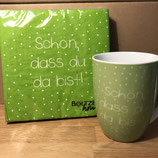 Set grün Serviette Tasse