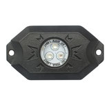 "SHARK LED Rock Light,3""x2"",3W,Multi-Color,Bluetooth Control,4 pcs Set"