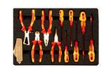 EAI0176BC, Unmagnetischer Ex-Schutz-Werkzeugsatz für Elektriker, 24 Werkzeuge + Koffer mit antistatischen Einlagen