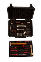 EAI0572 BC, ATEX-/ Ex-Schutz-Werkzeugsatz für die Kältetechnik, 38 Teile + Koffer mit elektrisch leitfähigen Einlagen