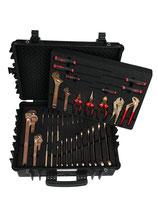 EAI0582BC, ATEX-Werkzeugsatz für die Öl- und Gasindustrie mit 44 Qualitäts-Werkzeugen mit Koffer und antistatischen Einlagen