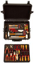 EAI0175BC, Ex-Schutz-Werkzeugsatz für Elektriker, 30 Teile + Koffer mit antistatischen, gefrästen Einlagen