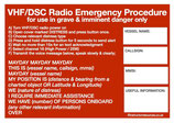 Radio Emergency Procedures Sticker