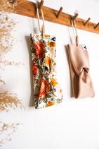 Haarband Vintage Flowers und Beige Ripp