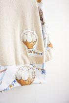 Heißluftballon Applikation Sweatshirt Größe 110