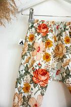 Slim Harem Pants Vintage Flowers