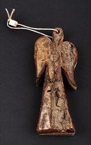 Holzengel mit Rinde klein - Handgemacht