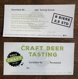 Gutschein für ein Craft Beer Tasting