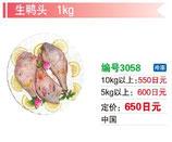 生鴨頭 | 冷凍アヒル頭
