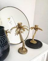 Palmen Kerzenleuchter Gold Madam Stoltz 23cm