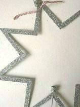 XL Weihnachtsstern Silber/Glitzer Walther&Co